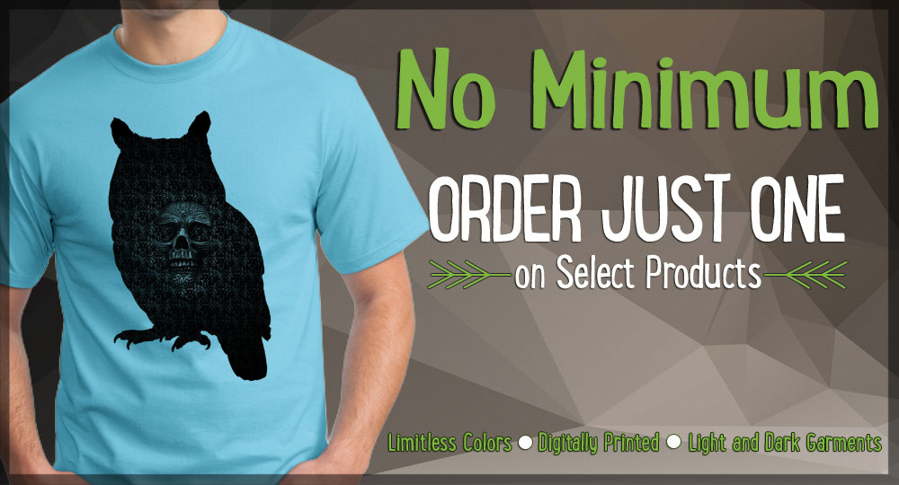 custom t-shirts no minimum order